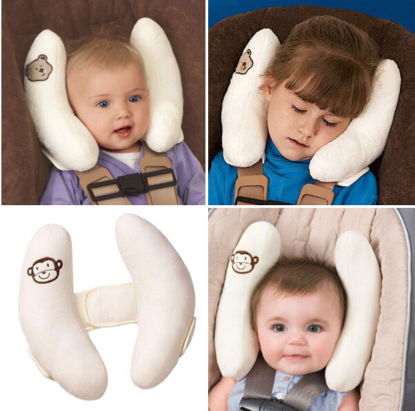 The Infant Child Safety Seat Headrest Pillows Baby Neck Pillow Car Cart Head Fixed Protection Stroller Pram In From Mother Kids