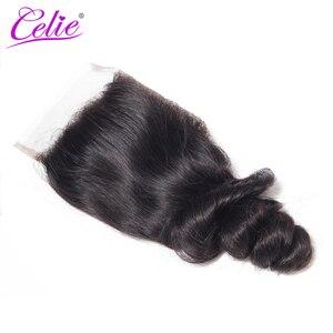 Image 5 - Celie Brazil Tóc Weave Gói Với Ren Đóng Cửa Remy Tóc Con Người 3 Bó Giao Dịch 4 cái/lốc Bó Sóng Lỏng Lẻo Với đóng cửa