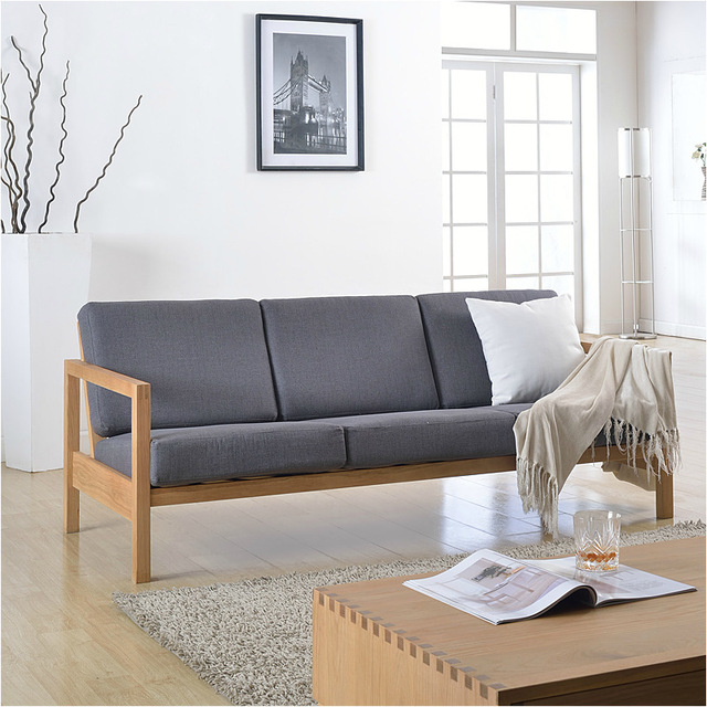 Attirant Japanese Style Furniture/cotton And Linen/solid Oak Wood Sofa Chair/Sofa  Combination