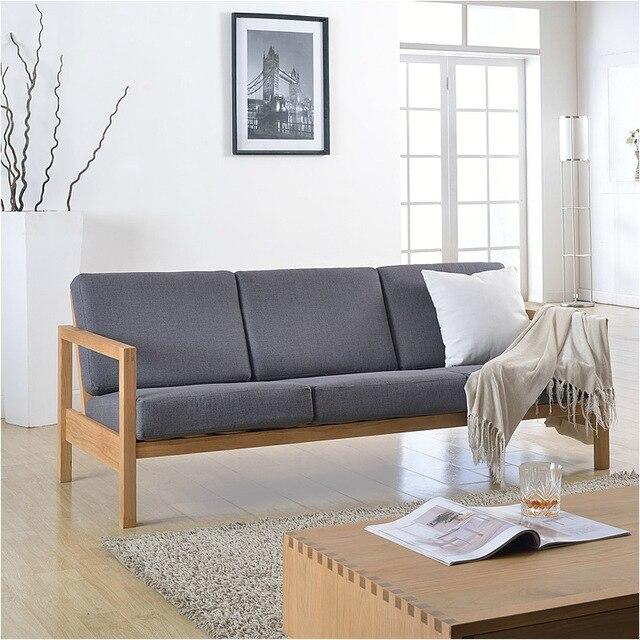 mobili in stile giapponese/cotone e lino/rovere massello divano ... - Soggiorno Stile Zen 2