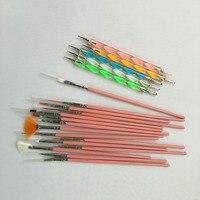 20 Pcs/Set Nail Art Brush Pen Kit Nails Design UV Gel Dotting Painting Drawing Polish Manicure Tools For Women Lady 88