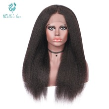 Kinky Straight Lace Front Human Hair Extension Wigs For Black Women 180 Density Brazilian Remy Human Hair Wigs Free Shipping