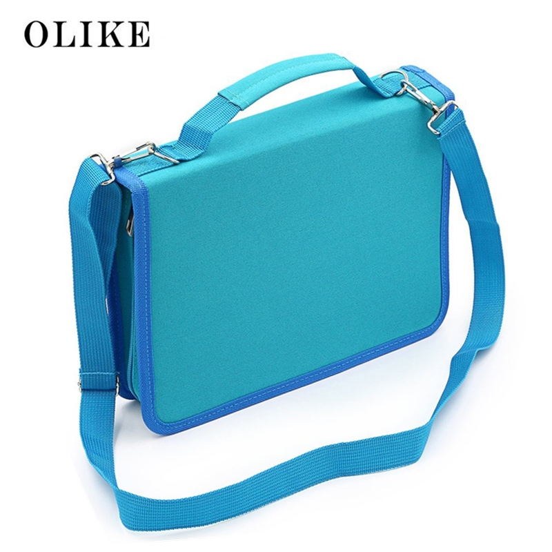 olike 150 slots lapis caso de lona lapis caso grande capacidade portatil saco de lapis para