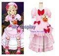 Umineko no Naku Koro ni Lambdadelta Cosplay Costume Pink Dresses For Halloween Girls Dress Clothing