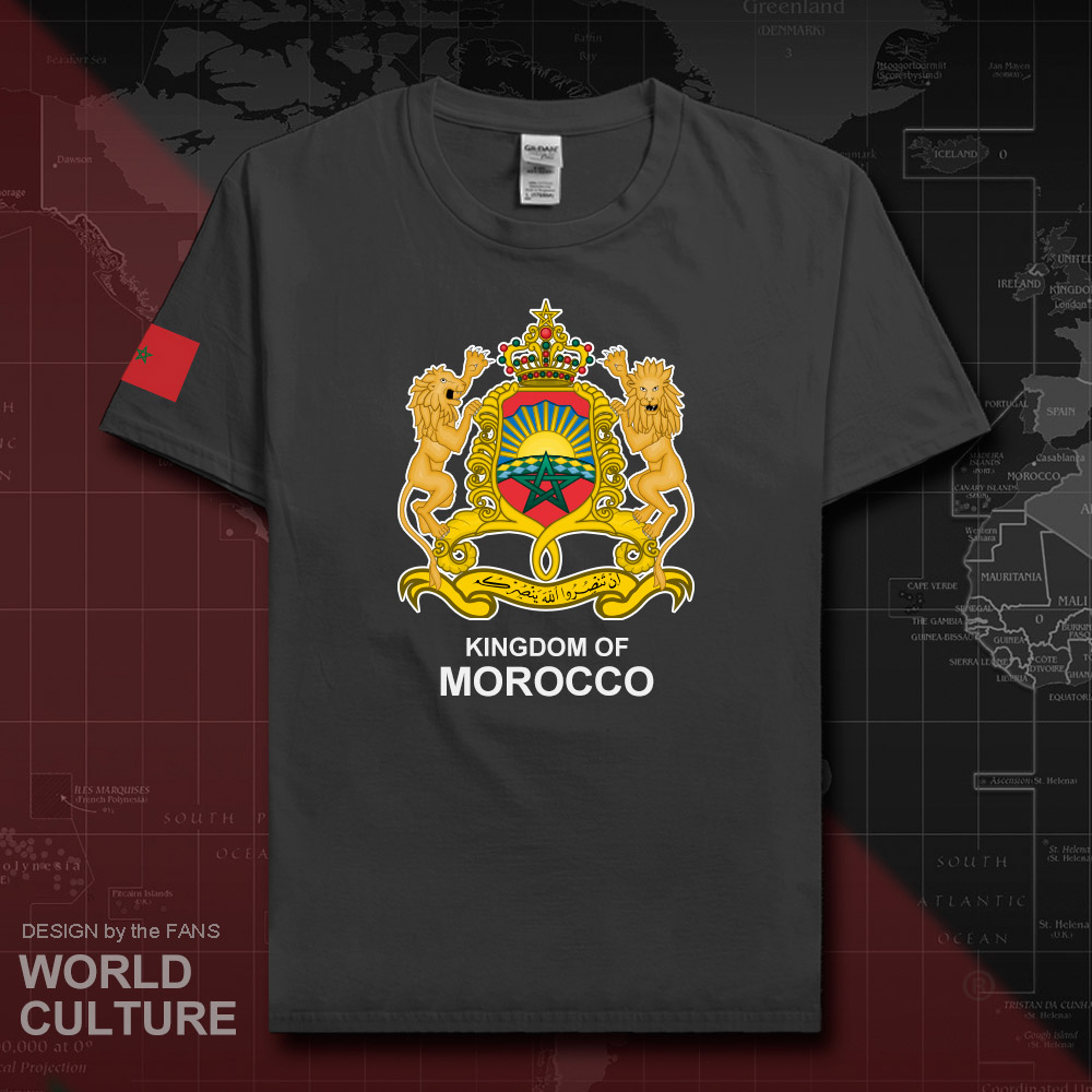 The Western Kingdom of Morocco Moroccan men   t     shirt   fashion nation team cotton   t  -  shirt   man sporting clothing tees country MAR 20