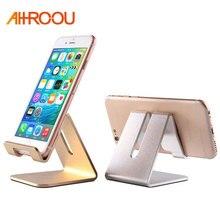 AHHROOU Aluminum Metal Phone Holder Desktop Universal Non-slip Mobile Phone Stand Desk Holder for iPhone Pad For Samsung Tablet