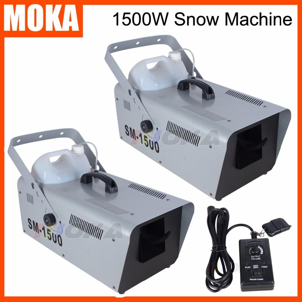 2 Pcs/lot 1500W Snow Maker machine disco projector christmas decoration Stage DJ Effect party machine