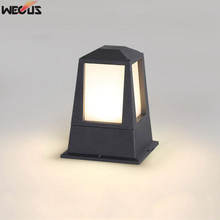 (WECUS) Outdoor waterproof outdoor modern minimalist lawn light, villa courtyard landscape grass garden column headlight