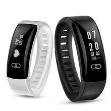 K8 крови Давление наручные часы 0.91 OLED монитор сердечного ритма умный Группа фитнес трекер SmartBand вызова/sms IOS Android браслет