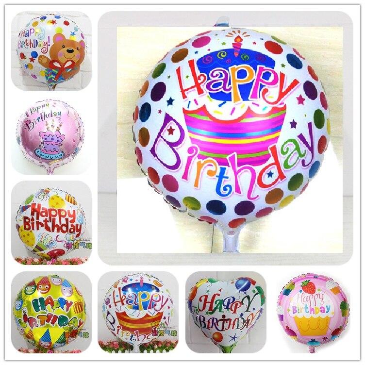 Mixed! 50pcs Globos batch happy birthday balloons aluminium foil balloons helium