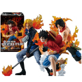 [PCMOS] Anime One Piece Attack Styling Luffy Ace Sabo Brother 3pcs PVC Figure New in Box 5644
