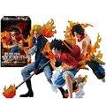 [Pcmos] anime one piece luffy ace sabo ataque estilo brother 3 pcs pvc figura novo na caixa 5644