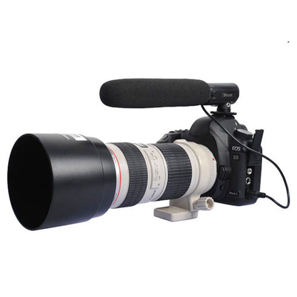 DC/DV Microphone MIC for Nikon Camera D7100 D7000 D5200 D5100 D3200 D3100 D800 for Canon EOS 5Ds/7D/6D/70D/60D/100D/5D Mark III