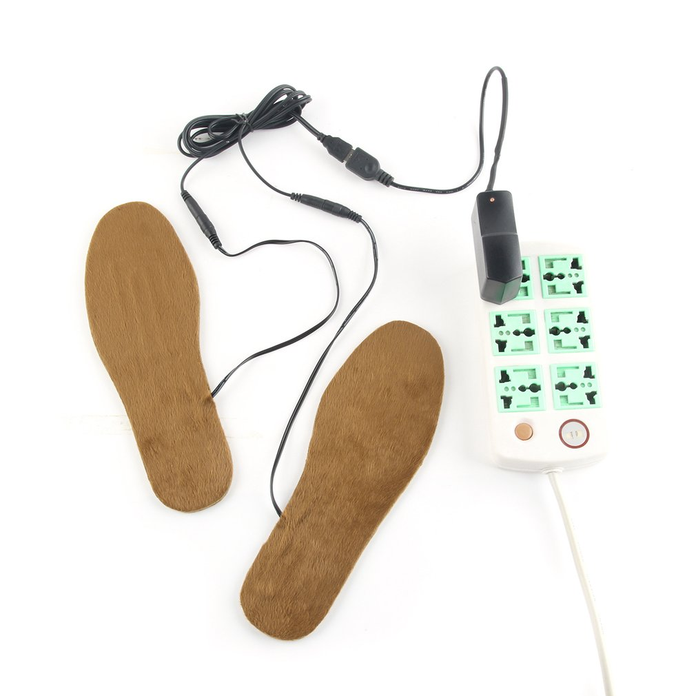 HOT  Heated Insole USB Electric Powered Plush Fur Heating Insoles Winter Warm Insoles Foot Heater Shoe Inserts for Men WomenHOT  Heated Insole USB Electric Powered Plush Fur Heating Insoles Winter Warm Insoles Foot Heater Shoe Inserts for Men Women