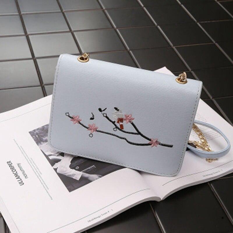 Европейской и американской моды вышивка маленькая сумка весной и летом новый досуг сумки на плечо Trend цепь Диагональ маленькая ba