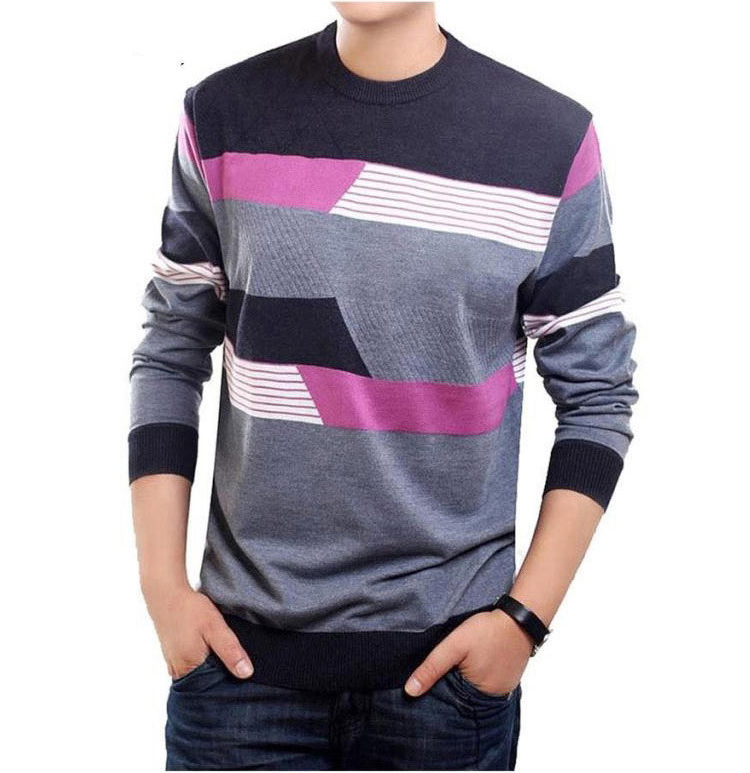 O Neck Sweater Men Brand Clothing Mens Sweaters Knit Wool Cashmere ...