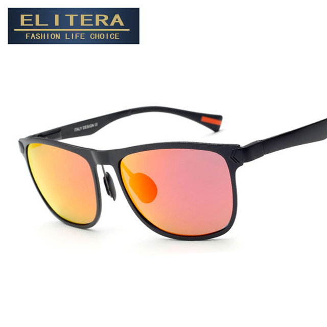ELITERA 2017 High Quality Unisex Retro Aluminum Magnesium Brand Sunglasses Men/Women Male Sun Glasses gafas oculos de sol