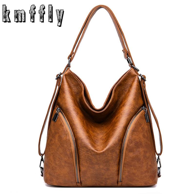 Women Bag Luxury Brand 2019 Multifunctional Vintage Women Messenger Bag Designer Shoulder Bags Top-handle Bags Sac A Main