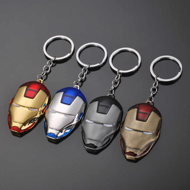 Mini Marvel Avengers Alliance รูปพวงกุญแจชุด Super Hero Captain America Shield พวงกุญแจ Iron man Key ผู้ถือ Kolye สงครามกลางเมือง