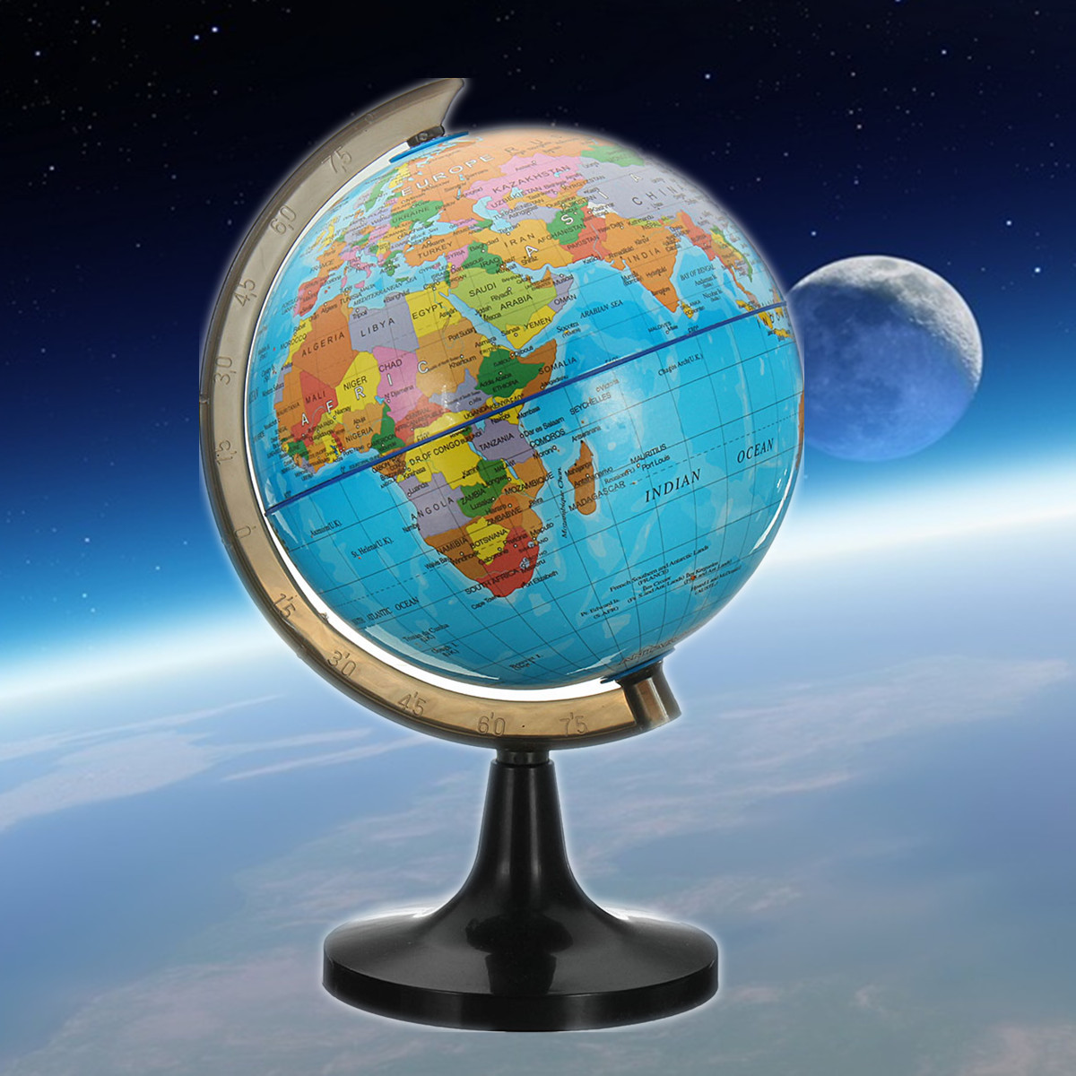 14 cm Globe World Earth Tellurion Globe World Map With Stand Geography School Educational Tool Home Office Ornament Gift diy scratch globe 3d stereo assembly globe world map travel kid child toy gift