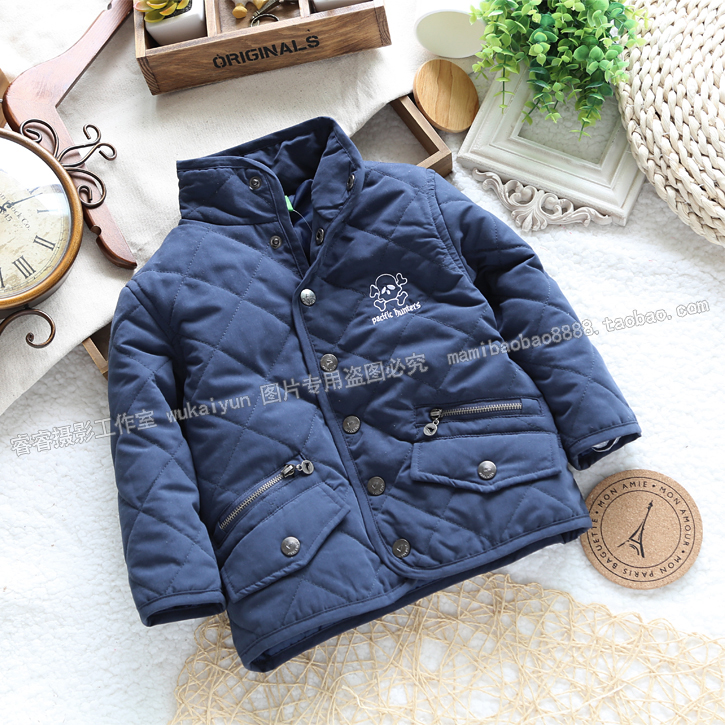 Free shipping Retail new 2013 autumn winter baby clothing children's winter outerwear baby boy cotton-padded jacket kids coat