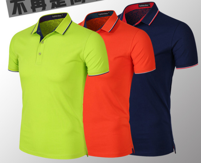 2019 Men's business short sleeves   POLO   shirt pure cotton lapel   POLO   YE160