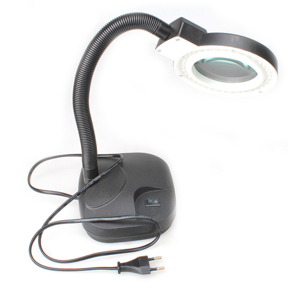High Quality Magnifying Glass LED Light Lamp Desk Magnifying LED Table Light Magnifier  M25