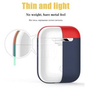 Image 2 - オリジナル公式シリコーンソフトイヤホン Apple Airpods 1 2 ケースカバースキンアクセサリー Airpods Bluetooth ワイヤレス電話カバー
