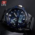 Часы Мужчины TTLIFE Люксовый бренд Цифровые Часы кварцевые reloj hombre Армия Военная Спорт наручные часы relogio мужской часы 1070