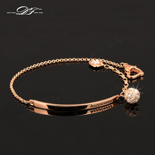 Party Charm Bracelets & Bangles Gold Plated Crystal Jewellery Women