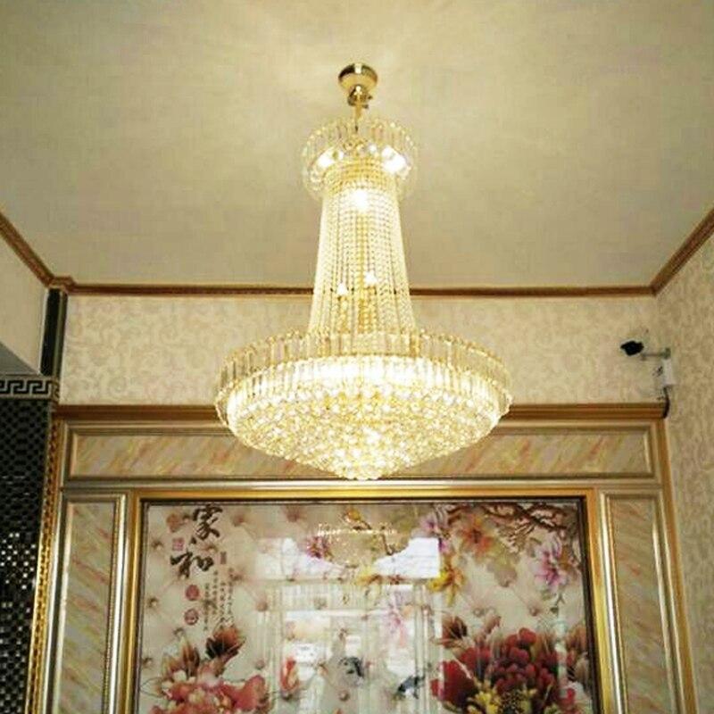 Бесплатная доставка Royal Empire Золотой хрустальная люстра свет французский Хрустальные потолочные Открытый Подвесные Светильники D600mm x H700mm