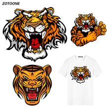 ZOTOONE Trend Tiger Iron on Transfer Patches Clothing Diy Patch Heat for Clothes Decoration Stickers Accessories G