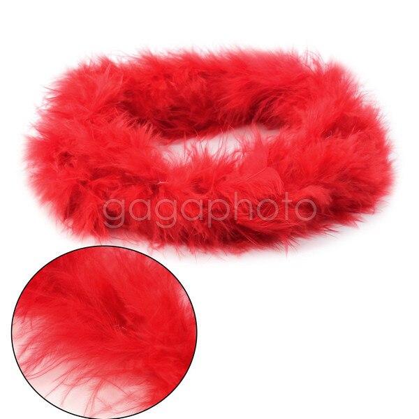 Party Wedding Decoration Xmas Gift 2M Fluffy Feather Boa Strip Fancy Dressup