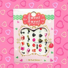 1PC Lovely Anchor Diamond Pattern Nail Stickers Stylish Nail Tip Wraps Decoration Tools HCML24 Children Christmas Gifts Sexy Lip