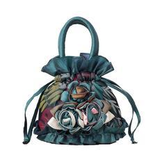 Lace national wind with bucket bag ladies canvas unit price handbag