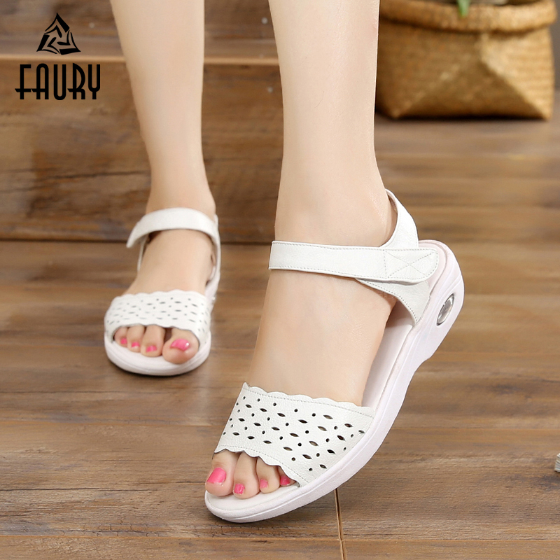 2018 Summer New Sandals For Hospital Medical Working Nurses Doctors Female Soft Breathable Wedges Non-slip Cushion Work Shoes