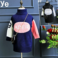 2016 new winter girls thickened long turtleneck sweater sweater baby Free Shipping