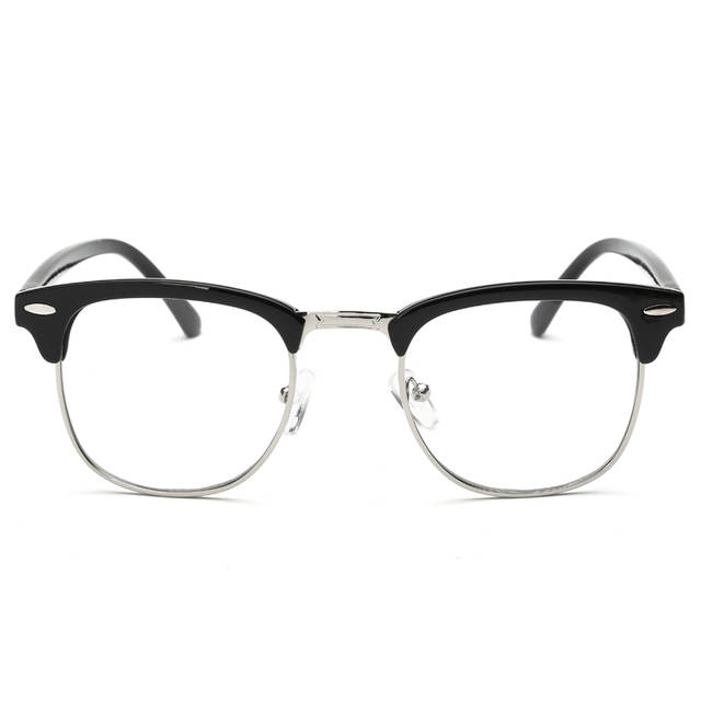 82458c9946c05 placeholder Estilo Vintage Limpar Lens armações de óculos Sem Aro Semi  Óculos Simples Retro Homens Mulheres Óculos