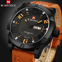 NAVIFORCE Brand Watches men Casual Quartz reloj Leather wristwatch Army Military reloj hombre men's clock relogio masculino