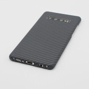 Image 4 - 高級カーボンファイバーケースサムスンギャラクシー S10 S10 プラスケースマットアラミド繊維 0.7 ミリメートル超薄型マット電話カバーケース
