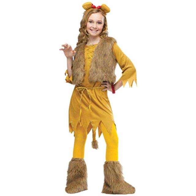 kids cosplay courage lion child girl cute children party animal halloween costume girls halloween costumes l15285