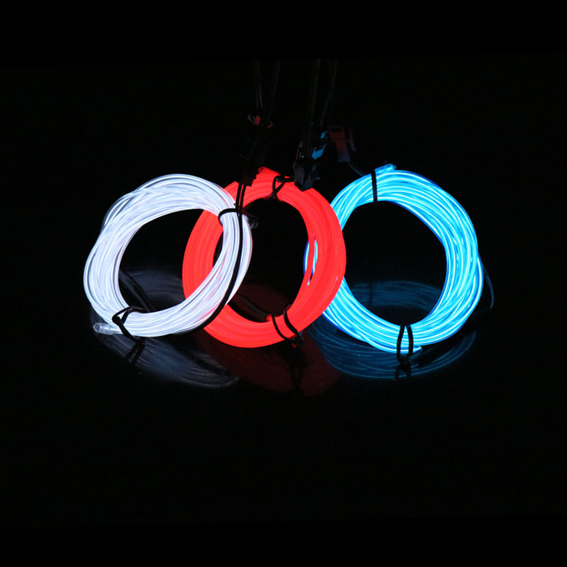 Rope Tube LED Strip Neon Light Dance Party Decor Car Flexible Wire With Inverter