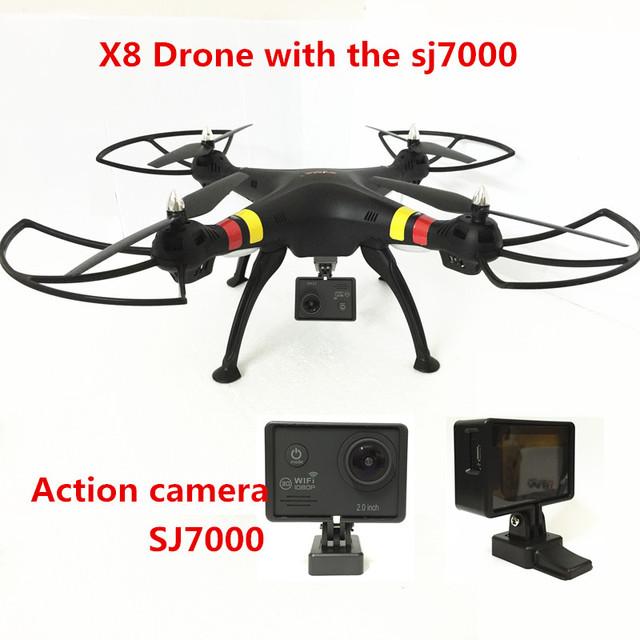Syma X8C/X8W/X8 FHD 2.4G drones FPV Drone con Cámara de 12MP con cámara hd 6 Ejes dron RC Quadcopter Helicóptero Fit SJ7000 cámara