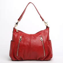 5colors woman shoulder bags cow leather 2017 women fashion brand big vintage casual genuine party handbags for lady