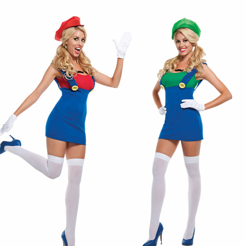 adult womens super mario luigi halloween costume plus size m xl in anime costumes from novelty special use on aliexpresscom alibaba group