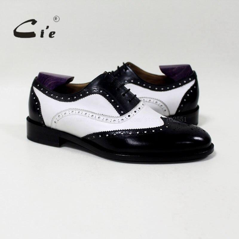 CIE круглый носок смешанных цветов белый и черный на заказ ручной работы из натуральной телячьей кожи мужские оксфорды blake/mackay craft OX 04 00