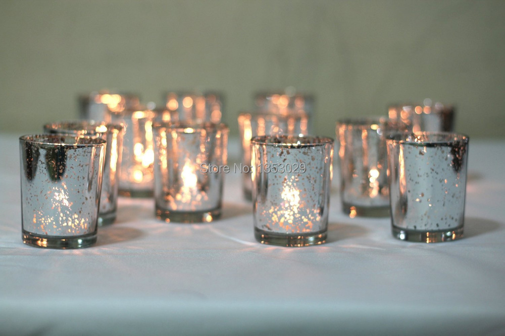 12pcs gorgeous glittery u0026 gold mercury glass candle holders gold silver votive holder
