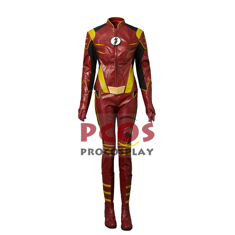 The Flash Season 3 Jesse Quick Cosplay Costume & Boots mp003507