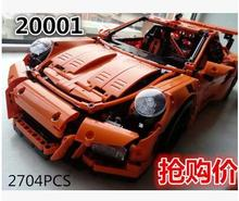 2016 New LEPIN 20001 2704Pcs Technic Series 911 GT3 RS Race Car Model Building Kits Blocks Bricks Toy Gift 42056 sports car  boy