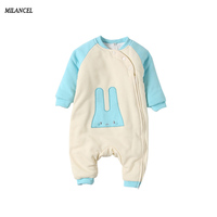 Milancel 2017 New Baby Rompers Winter Thicken Warm Baby Boys Girls Clothing Long Sleeve Jumpsuit Kids